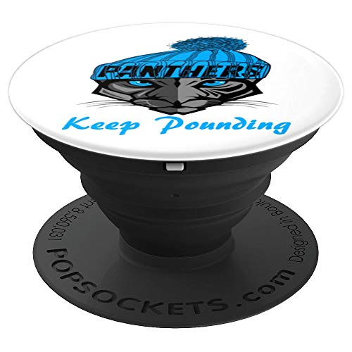 Keep Pounding Panther Football Black Phone Cell Mount - PopSockets Grip and Stand for Phones and ()