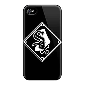 Flexible Tpu Back Case Cover For Iphone 4/4s - Baseball Chicago White Sox