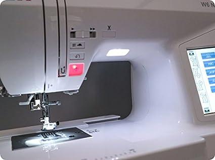 W6 Valor Trabajo W de N8000 Máquina de Coser, plástico, Blanco, 43 ...
