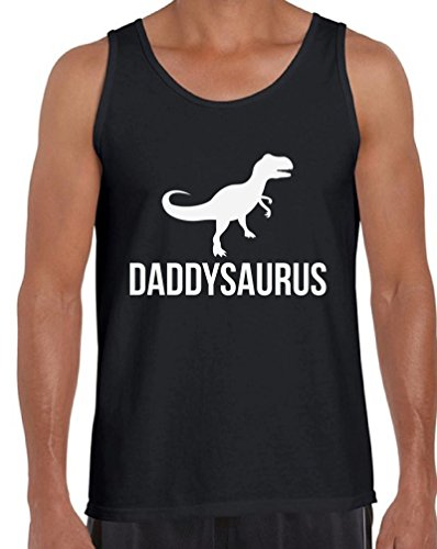 Daddysaurus Cool Tank Tops Father`s Day Gift Daddy Saur Black M (T-rex Reptile Bowl)