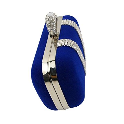 Velours FYios à mariée Main Luxe à soirée Sac Blue de Sac Bague Diamant Main Bague Sac de Sac u PPxr4qBw