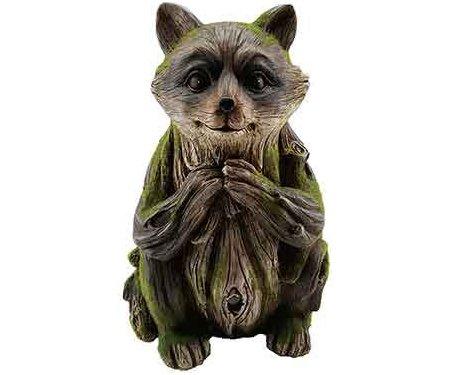 Exhart 10795 Solar Woodland Raccoon