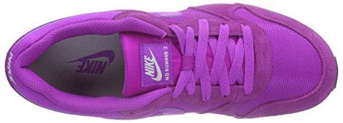Nike Zapatillas Mtllc MD Wmns Mujer para Runner White 2 Vivid Morado Purple Slvr IwrIpxnvq5