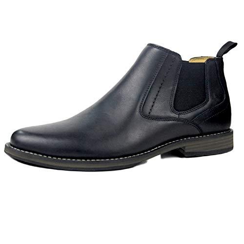 Chelsea Boots Uomo Pelle Oxblood Desert Brogue Classic Stivali Casual Alti in Pelle Martin Stivali Stivali da Uomo Black