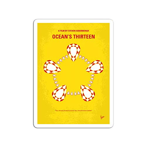 BreathNenStore Sticker Motion Picture No6 My Oceans 13 Minimal Movie Danny Ocean Ro Movies Video Film (3