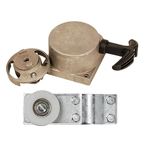 (HIFROM Pulley Chain Tensioner Bracket with Alloy Pull Start Starter for 49cc 50cc 60cc 70cc 80cc 2-Stroke Engine Motorized Bicycle Bike)
