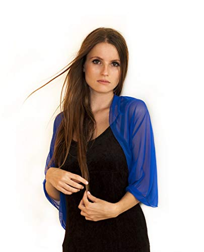 - Royal Blue Convertible Shawl. Wear As A Shawl, Shrug, Crisscross Or Infinity Scarf. Sheer Cover Up, Royal Blue Color.