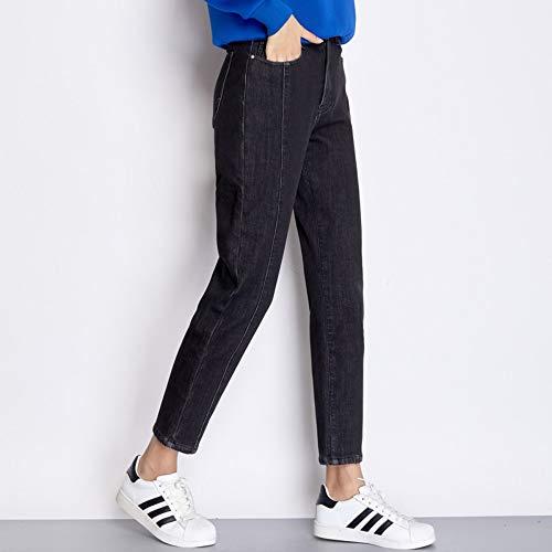 Xxl Enzima Wash Jeans Donna Size Nero Nuovo Casual Addensare Denim Donn Inverno Rlwfjxh Loose Harem Jean Arrivo 6l Pieghe Plus H6OOx