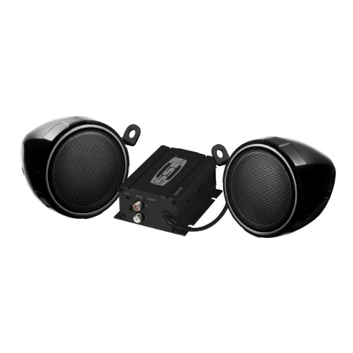 SOUND STORM SMC65 Black 600 watt Motorcycle/ATV Sound System with One Pair of 3 inch Weather Proof Speakers - Hummer H3 Ride On