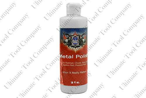 - 16oz White Metal Polish Compound Light Scratches Color Finish Bright | 16 Ounce Bottle Easy To Manage Compound