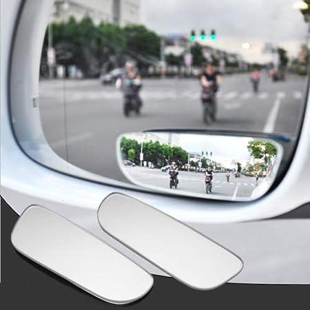 in Vetro HD per Auto e Moto Regolabili jsadfojas con Adesivo grandangolare Convesso a 360 Gradi 2 specchietti retrovisori per Punti ciechi
