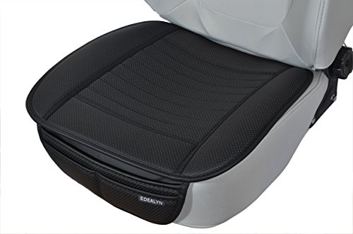 EDEALYN 1 pcs Auto faux PU leather Protector front car seat cover Car Seat Cover Cushion Universal Pad Mat for Auto Car Office Chair (1 Front Seat)