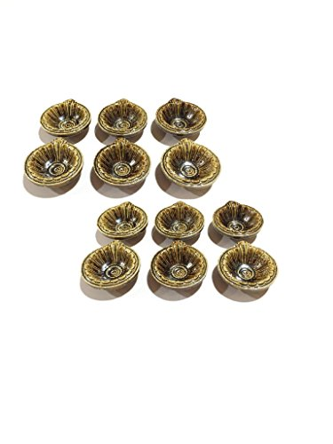 12 Pack of Storite Small Round Traditionally Designed Indian Diya/Deepak for All Occasions(Decoration,Puja and Festivals)