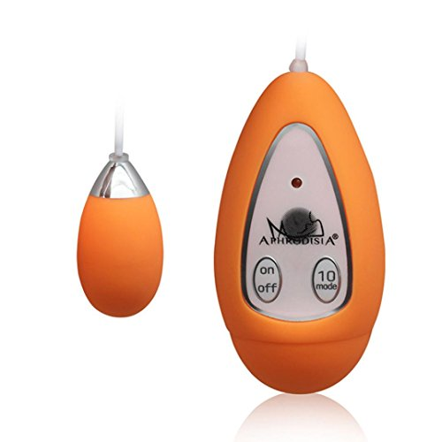 Coper New Amazing Waterproof Wired Vibrating Eggs Vibrator Massager Sex Toys Vaginal Anal Toys (Orange)