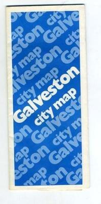 Galveston Texas Map Moody National Bank 1979