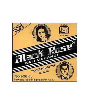 Black Rose Kali Mehndhi 50g (Case of 12) Black Rose Hair Dye