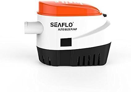 SEAFLO 12V 750 GPH Submersible Bilge Pump for Boat RV Marine