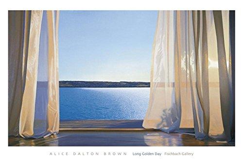Long Golden Day Art Print Art Poster Print by Alice Dalton Brown, 60x40 (Art Dalton Alice Brown)