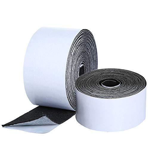 Pllieay 2 Pack Self Adhesive Felt Tapes Polyester Felt Tapes Furniture Felt Strips for Furniture and Hard Surfaces (1.96 inch x 14.7 feet x 1 mm Thickness) Adhesive Backed Felt Tape