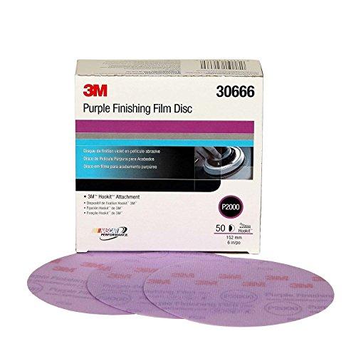 """3M 30666-50PK Hookit 6"""" Purple Finishing Film Disc, (Pack of 50)"""