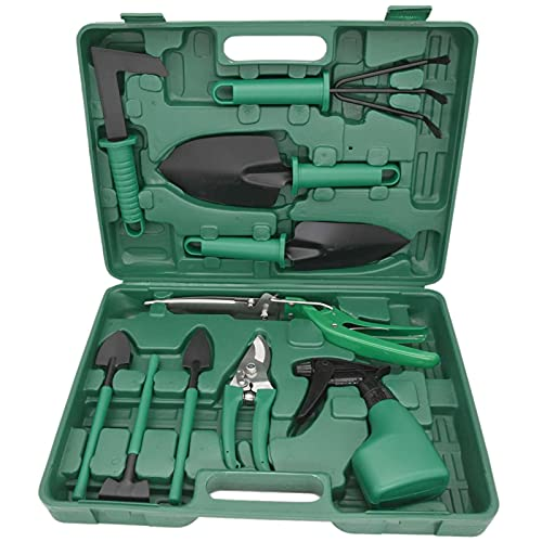 LIYYOO 11 Pieces Garden Tools Set, Heavy Duty Gardening Tools,Gardening Tools with Carrying Case,Ergonomic Hand Tools…