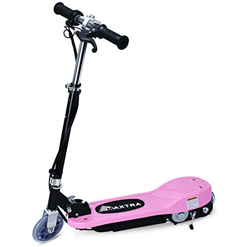 Maxtra E100 Electric Scooter for Kids 160lb Max Weight Capacity Motorized Scooters Bike Pink
