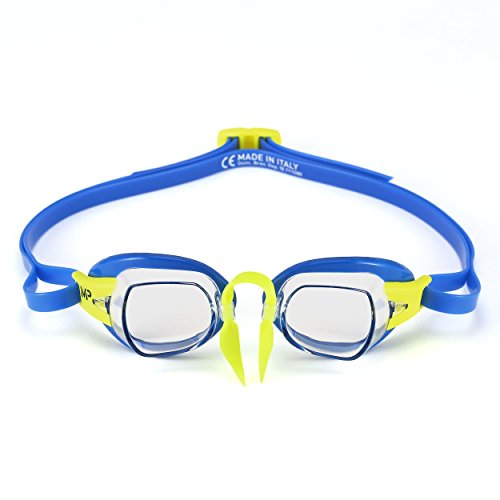 Original Swedish Goggle - MP Michael Phelps Chronos Swedish Goggles, Clear Lens Blue/Lime