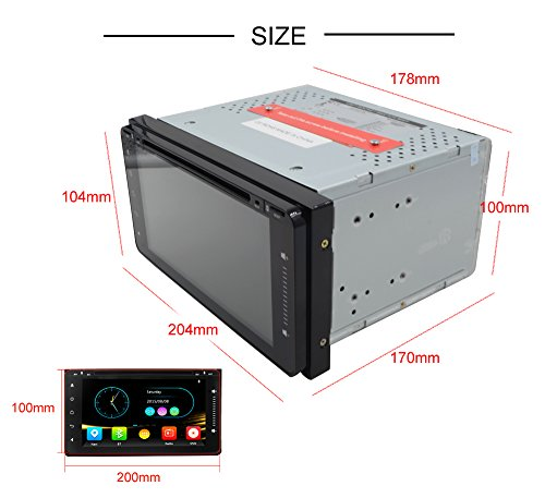 Android 7 1 Car Stereo Touch Screen Double 2Din for Toyota - Import