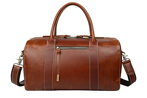 Genda 2Archer Men's Vintage Classic Italian Leather Weekender Duffel Bag Luggage Tote (Brown ) by Genda 2Archer