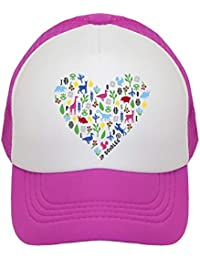 794c4ad5212 Heart on Kids Trucker Hat. Kids Baseball Cap is Available in Baby