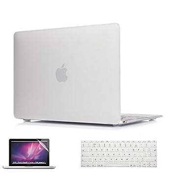 i-Buy 3 en 1 Funda Dura Compatible para Apple Macbook 12 pulgadas con Retina Display(Modelo A1534) - Cubierta de plástico Duro, Cubierta de Teclado y ...