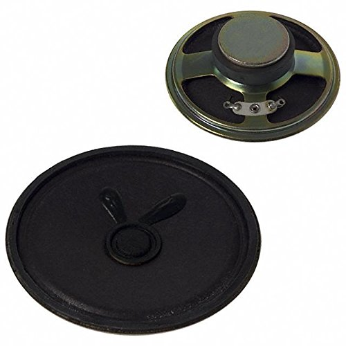 Speakers & Transducers speaker, 50 mm round, 17.5 mm deep, paper, ferrite, 250 mW, 8 O, 450 Hz, solder eyelets (10 pieces)
