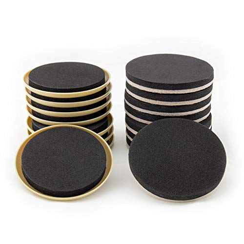 Furniture Moving Kit - Set of 16 Furniture Sliders, Coasters for Carpet and Hardwood, Tile - Glider Furniture