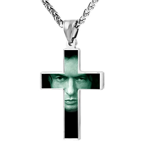 Tommy The Room Movie Wiseau Zinc Alloy Necklace Chain Stainless Ornament With Custom 3D Printed Fashion Pray Cross Crucifix Pendant For Perfect Gift Unisex Women Men