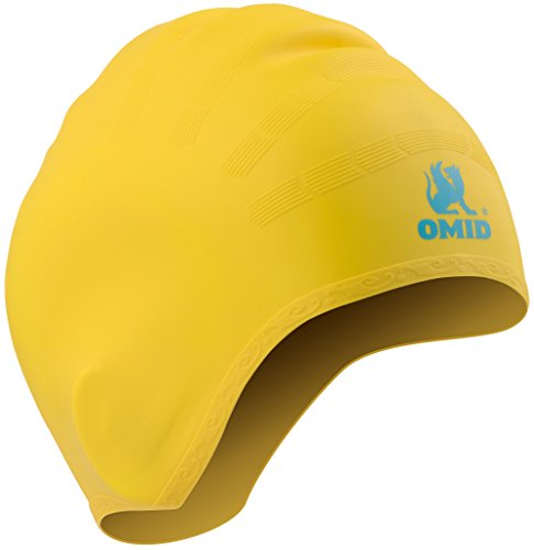 OMID Swim Cap with Ear Pockets Protection, 100%