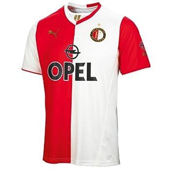 Puma Men s Football Shirt Feyenoord Rotterdam Home Shirt Replica W. Sponsor  Multi-Coloured mehrfarbig 10bc3fc8f