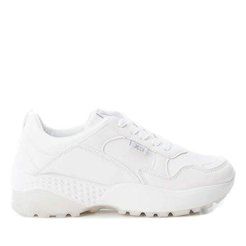 Zapatillas Blancas t-37 Plataforma xti