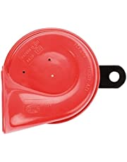 HELLA 007424001 Red Trumpet Low-Tone Horn with Bracket, 12 V, 400 Hz (Universal Fit)