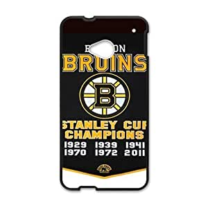 Boston Bruins Dynasty Banner Fashion Design Htc One M7 Case Shell Cover (Laser Technology)