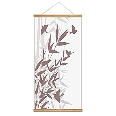 Charming Technique, Original Creation, Hanging Poster NO Magnetic Wooden Framed Ink Bamboo Painting Designs Home Wall