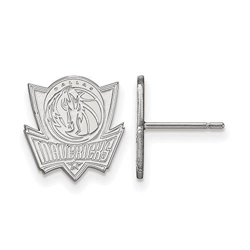 NBA Dallas Mavericks Small Post Earrings in Sterling Silver by LogoArt