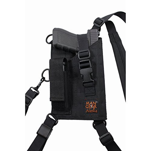 Man Gear Alaska Ultimate Chest Holster - MGP1 Large Auto w/Mag Pouch