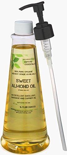 sweet almond oil organic 16 oz - 4