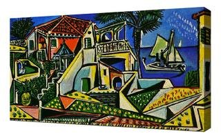 Pablo Picasso - Mediterranean Landscape Framed Canvas Art Print Reproduction