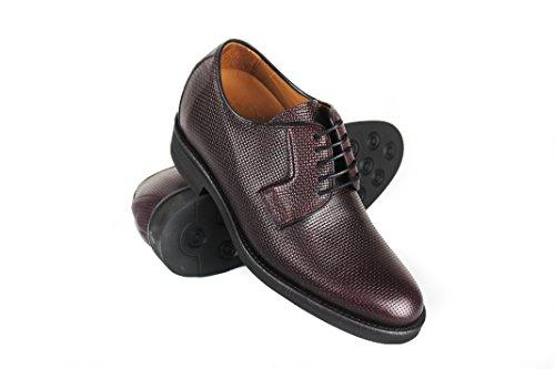 Zerimar Chaussures avec Augmente Intérieur DE 7 CM Fait de Cuir de Haute Qualité Style Décontracté 100% Peau Couleur Bordeaux Taille 40