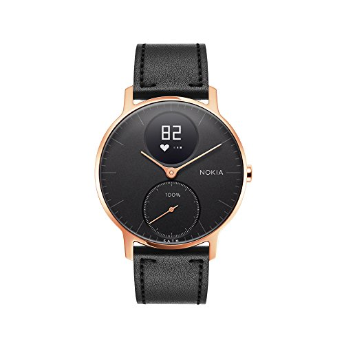 Withings / Nokia | Steel HR Hybrid Smartwatch - Activity Tracker with Connected GPS, Heart Rate Monitor, Sleep Monitor, Water Resistant Smart Watch with 25-day battery life