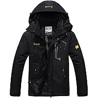 Pooluly Men's Waterproof Windproof Rain Snow Jacket