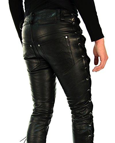 san francisco latest selection luxury fashion Bockle® 1991 lace-up Leather Pants Leatherjeans Men Pants Leather Jeans New
