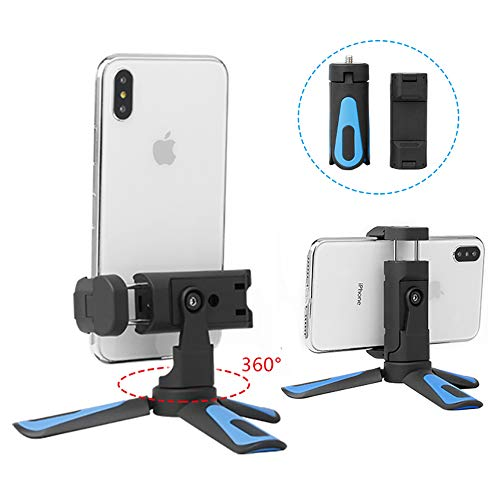 YILIWIT Mini Tabletop Tripod 360° Rotation Flexible Phone Tripod Stand Support Horizontal Vertical Shooting Compatible for iPhone Xs 7 Plus Samsung Zhiyun Smooth 4 DJI Osmo Pocket Gimbal