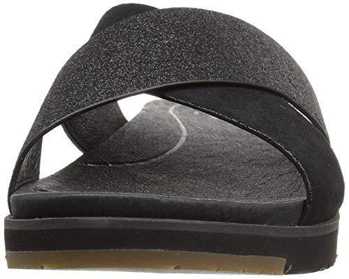 Women's Sandal Kari W Black Flat Glitter Ugg aXOwdqn